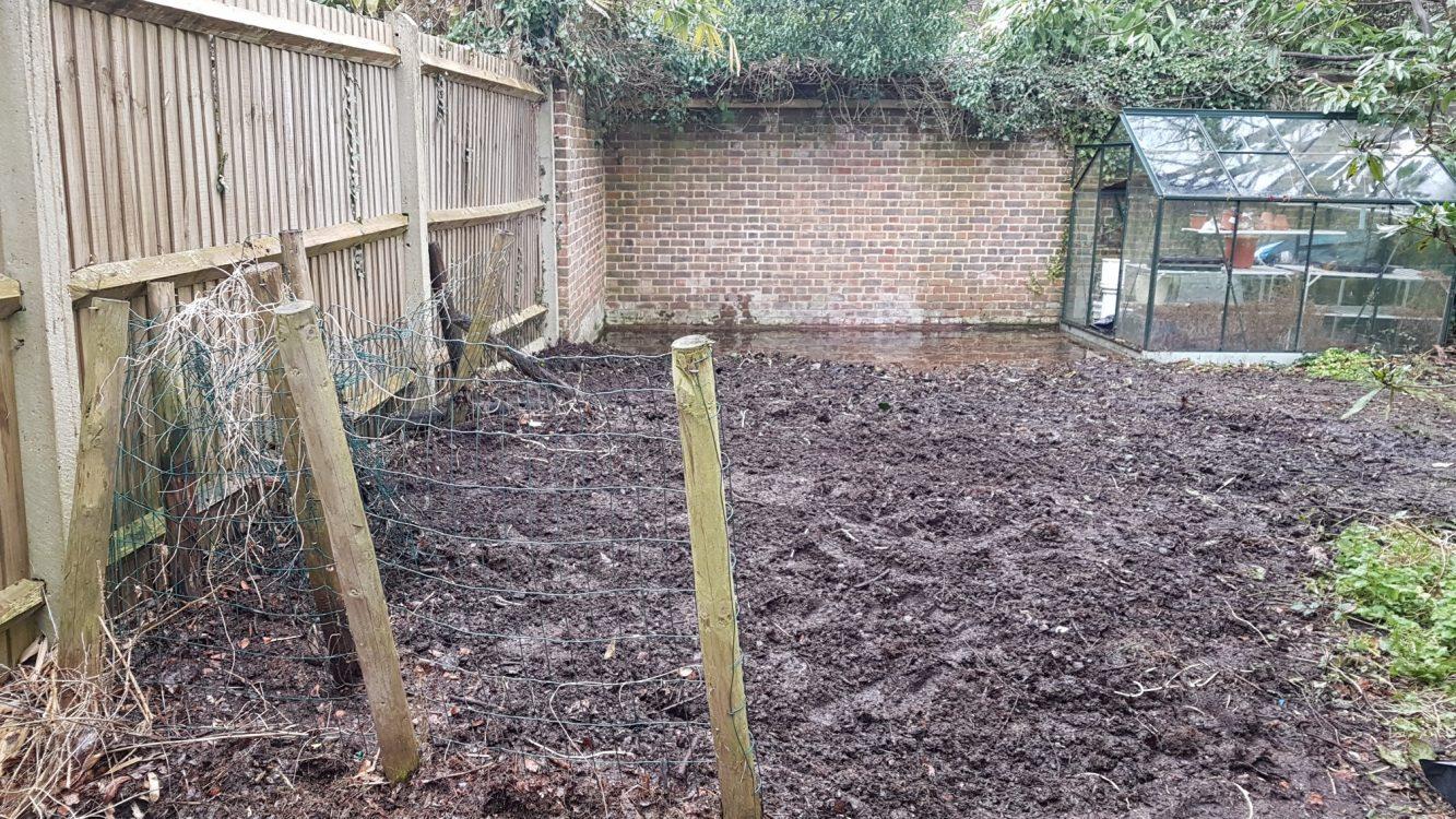 Cleared Garden waste